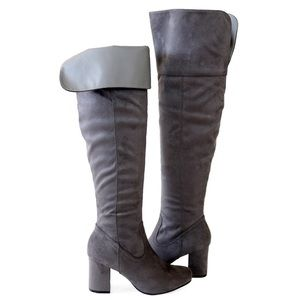 geller-01-gray-suede over the knee high boots